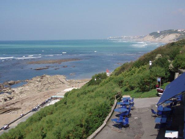 restaurant vue mer l'Heteroclito à Guéthary au pays basque.