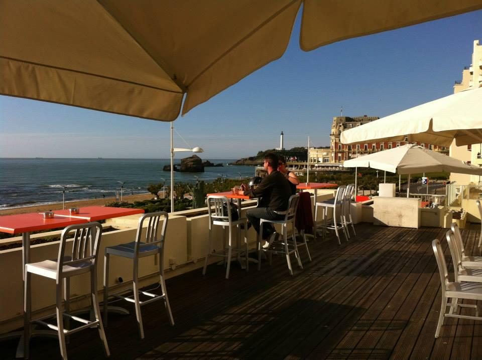 Restaurant vue mer le Room204 à Biarritz au Pays basque.