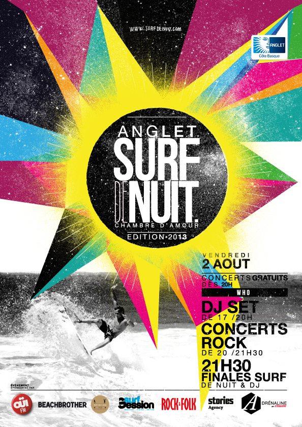 Surf de Nuit à Anglet