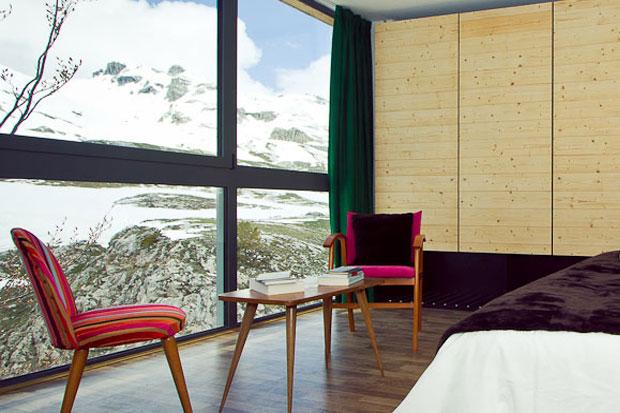 hotel du Pourtalet avec chambre vue sur l'Ossau