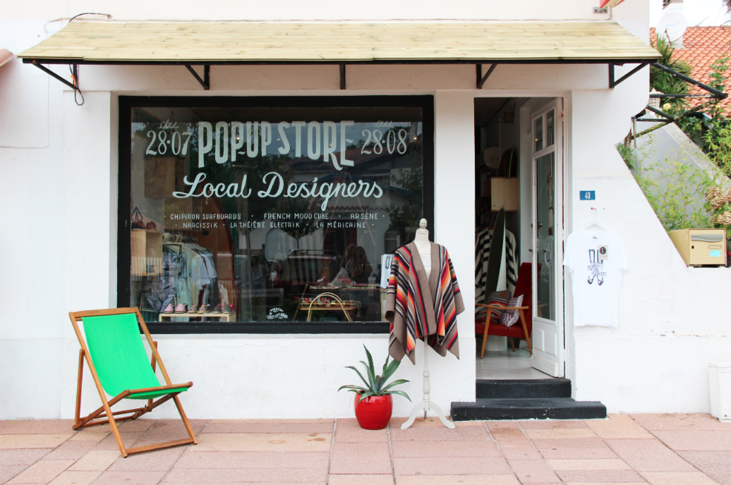 Pop Up Store Local Designers à Hossegor