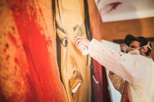 Flow en action pour le projet street art in house à Anglet