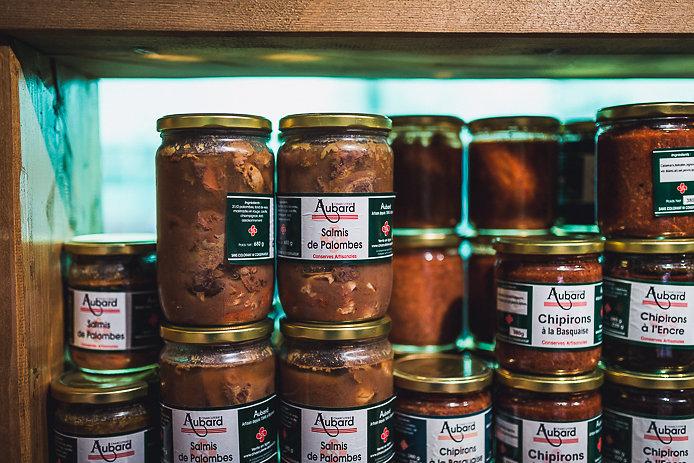 Les spécialités Aubard en vente à la boutique de Bayonne
