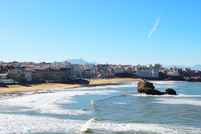 Vue Plage de Miramar depuis le Phare de Biarritz.