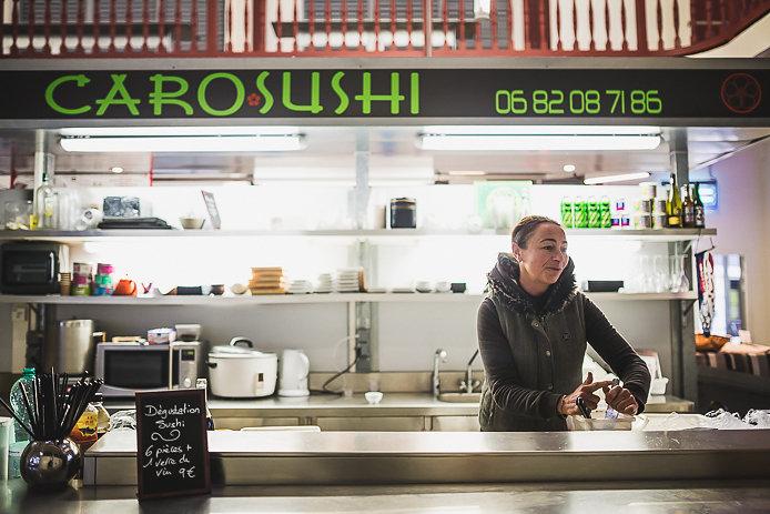 Caro Sushis au marché des Halles de Biarritz.