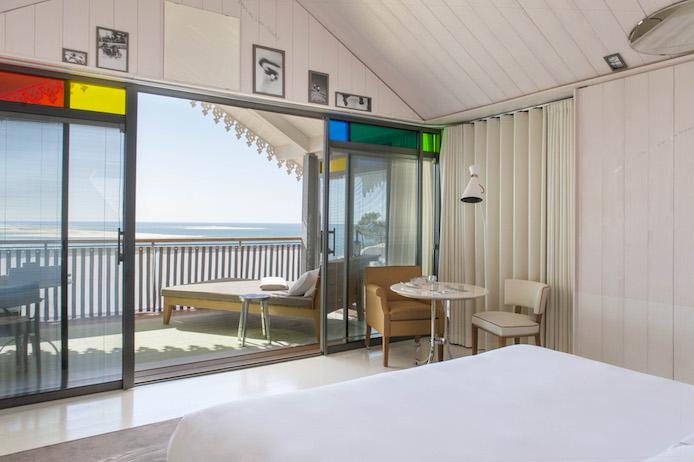 Cabanes designé par Starck de l'Hôtel La Co(o)rniche à Pyla sur Mer.