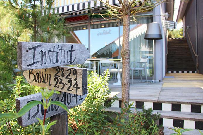Institut de beauté Carita de l'Hôtel La Co(o)rniche à Pyla sur Mer.