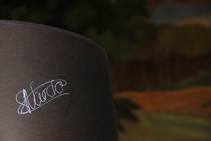 signature de Starck le designer de l'Hôtel La Co(o)rniche à Pyla sur Mer.