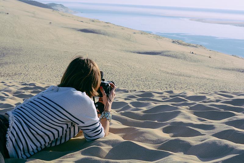 Photographier la dune du pyla au bassin d'arcachon.