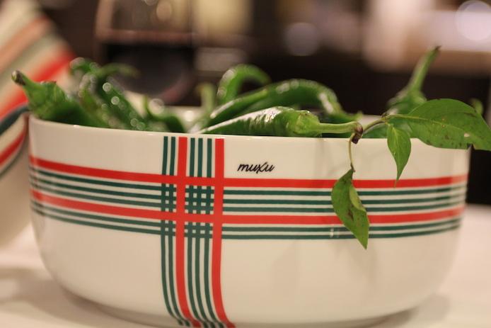 Saladier Donibane en porcelaine de la marque de vaisselle basque Muxu.