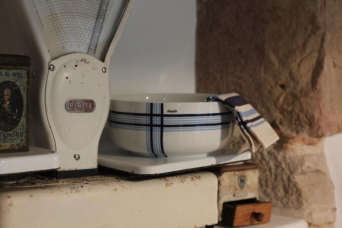 Saladier Baiona en porcelaine de la marque de vaisselle basque Muxu.