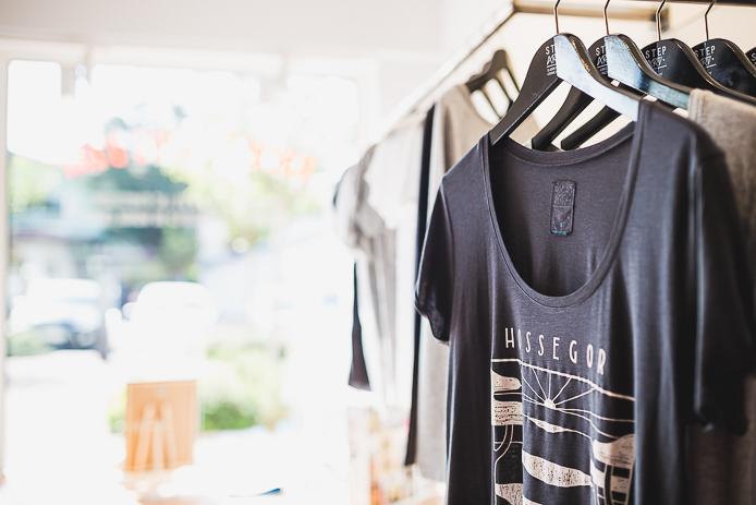 Tee-shirt StepArt pour la ville d'Hossegor par Steven Burke.