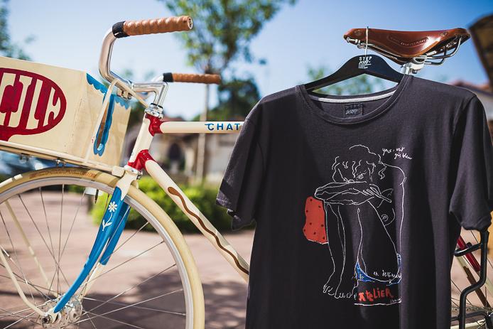 Tee-shirt StepArt par JP Chambas en vente dans la boutique d'Hossegor.