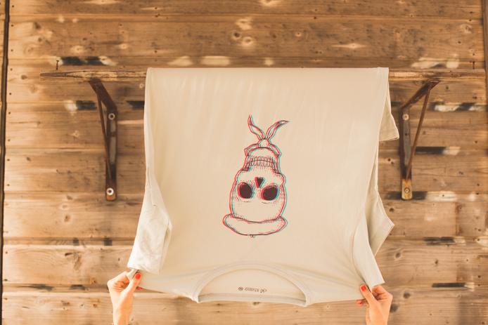 Tee-shirt 64 de la gamme studio, modèle skull homme.