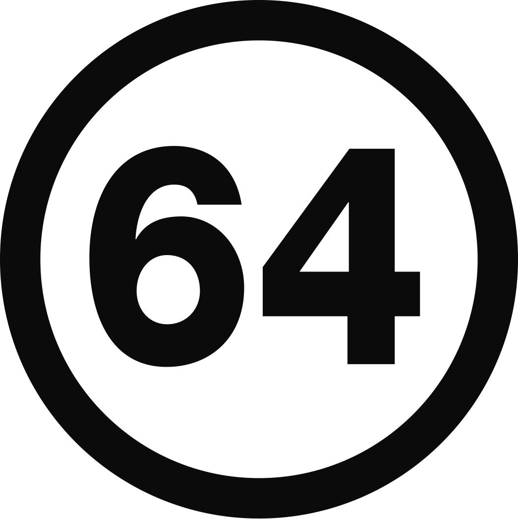 logo noir marque 64