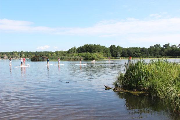 Stand-Up Paddle à l'etang blanc de Soustons dans les Landes.