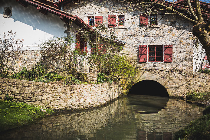 Le Moulin de Bassilour à Bidart au Pays basque.