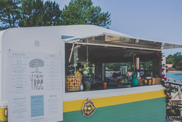 la caravane du bar à jus Le Mango Tree à Hossegor
