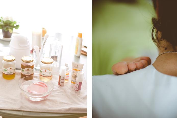 Massages et soins du visages avec les produits Ballot Flurin par Esprit Léger.