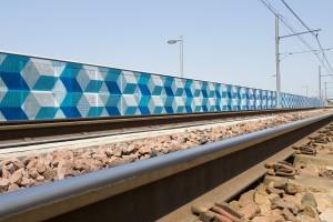 Pont ferroviaire Bayonne réalisé par l'artiste LX.one.