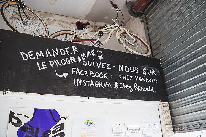 Déco de la buvette éphémère Chez Renauld à St-Jean de Luz.