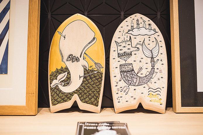 Odö et Little Madi handplant customisés pour EQ Concept Store à Biarritz.