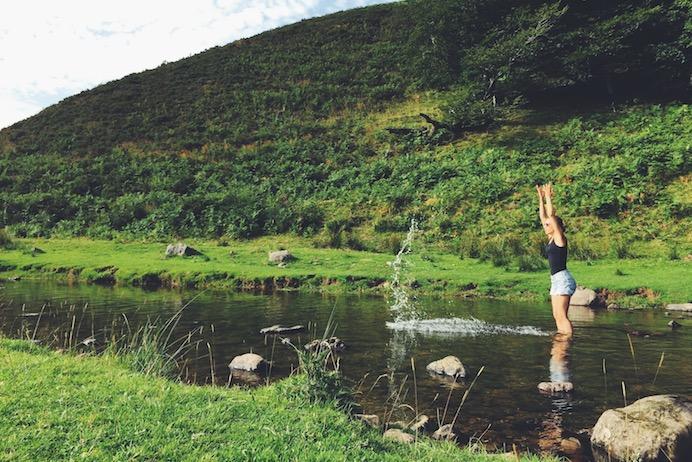 Ruisseau à Iraty.