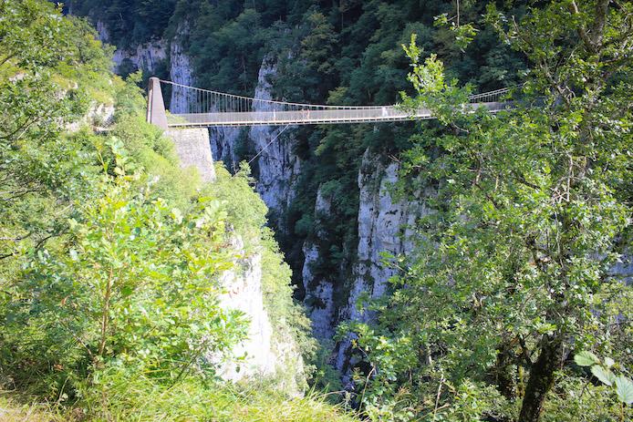 Passerelle d'Holzarte à Larrau au Pays basque.