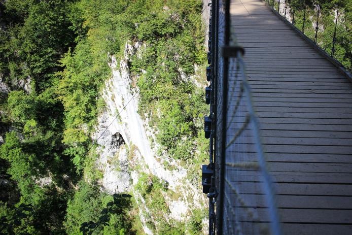Pont suspendu d'Holzarte à Larrau au Pays basque.