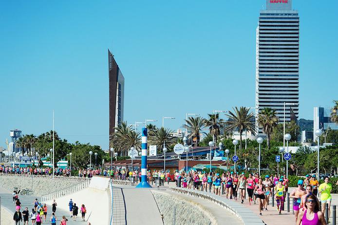 Running à Marseille lors du Roxy #RunSupYoga.
