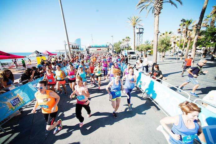 Course pour le Roxy #RunSupYoga à Hossegor en octobre.