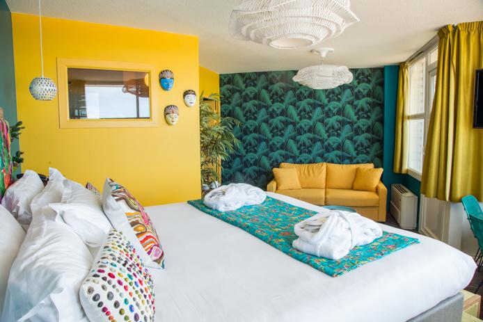 Chambre panoramique de l'hôtel restaurant le Baya à Capbreton.