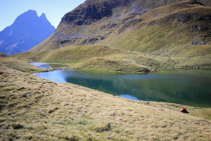 Bivouac au lac d'Aule (Vallée d'Ossau)