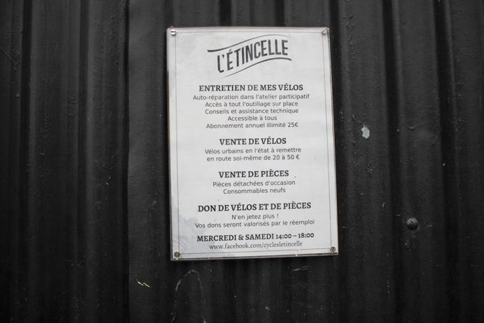 L'Etincelle projet vélos recuperation à Darwin Caserne Niel Bordeaux Rive droite