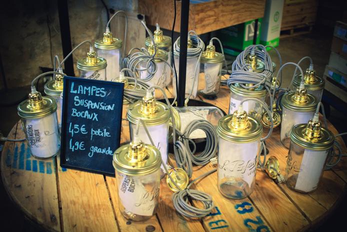 Lampes suspension bocaux en vente chez Darwin à Bordeaux
