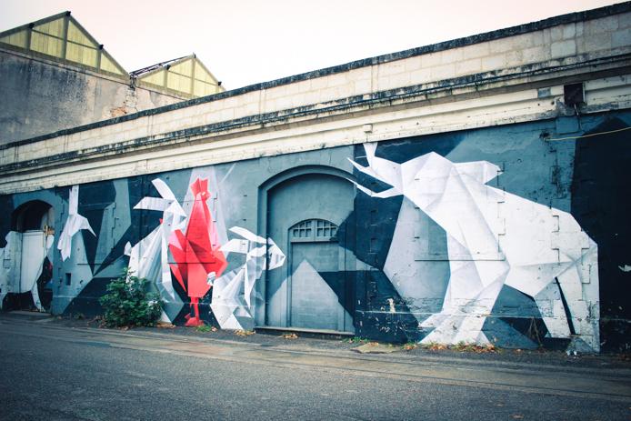 Graff à la Caserne Niel Darwin Bordeaux Quai