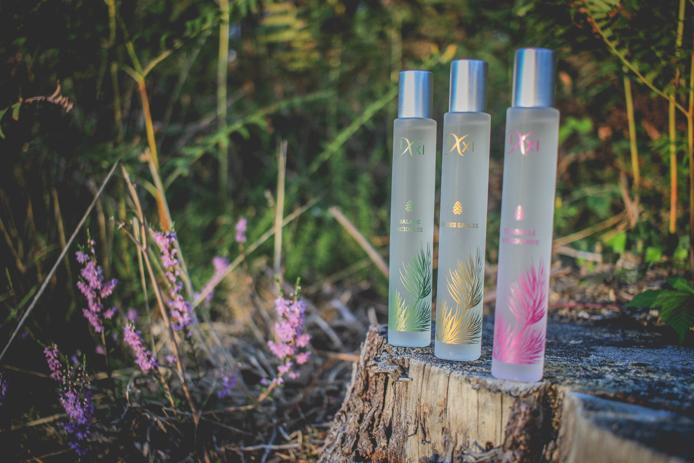 Les trois eaux parfumées Ixxi à l'OPC pin des Landes.