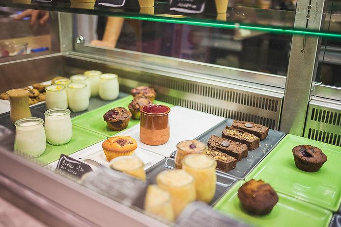 Dessert sans gluten à la Cantine de l'Eau Vive à Bidart