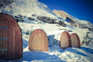 Snow pod Gourette avec l'Aventure Nordique