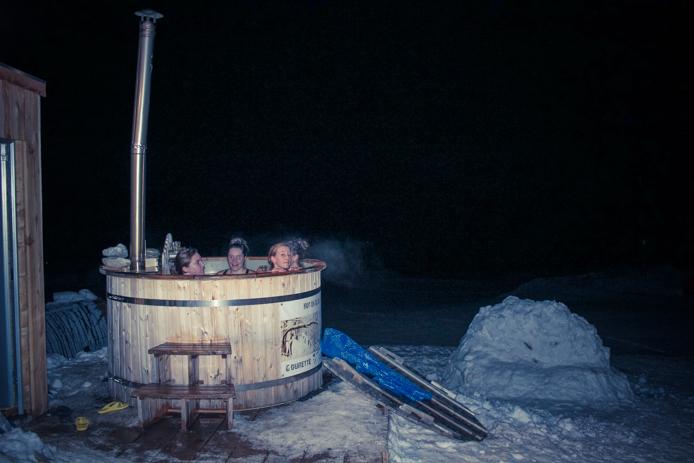 Bain nordique à Gourette avec l'Aventure Nordique