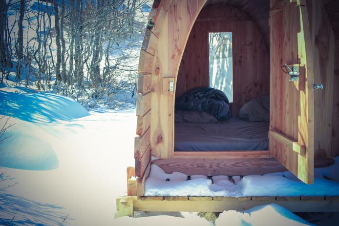 Snow pod ou igloo pour dormir en altitude à Gourette