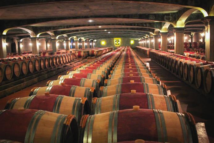 Chais et barriques du Château Smith Haut Laffite Bordeaux
