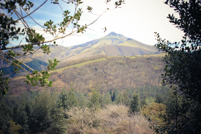 La Rhune depuis le Col d'Ibardin