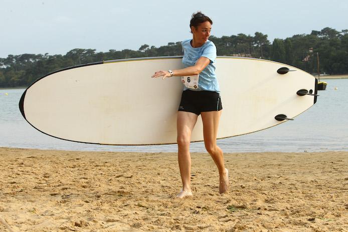 Raid La Saharienne Series à Hossegor épreuve de stand up paddle