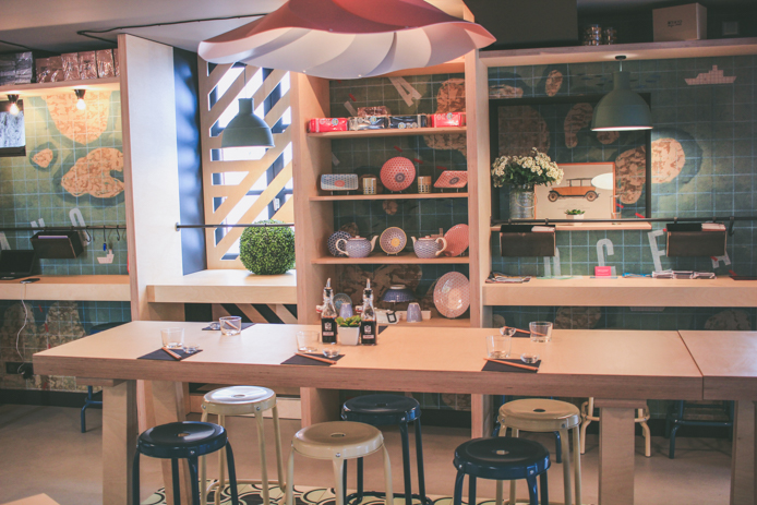 Salle de restaurant japonais You Sushi à Saint-Jean de Luz