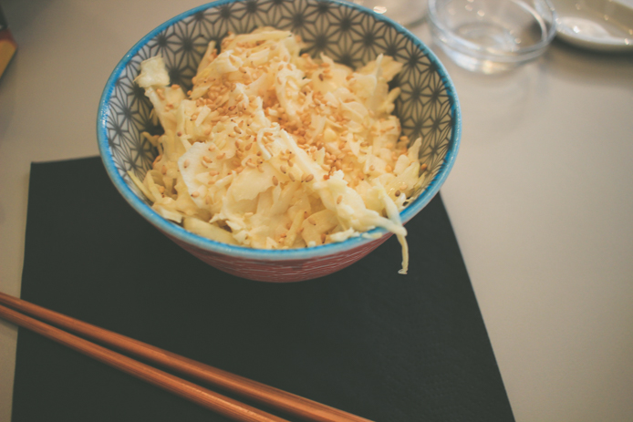 Salade de choux blanc du restaurant japonais You Sushi