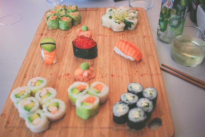 Plateau de sushis du restaurant japonais You Sushi à Saint-Jean de Luz