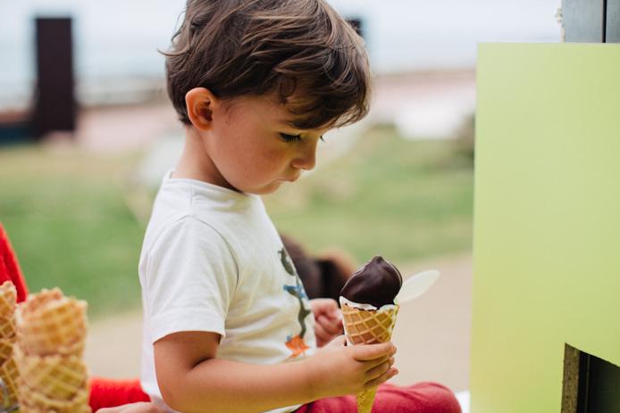 Yaourt glacé bio Marguerite du Pré chocolat trempette
