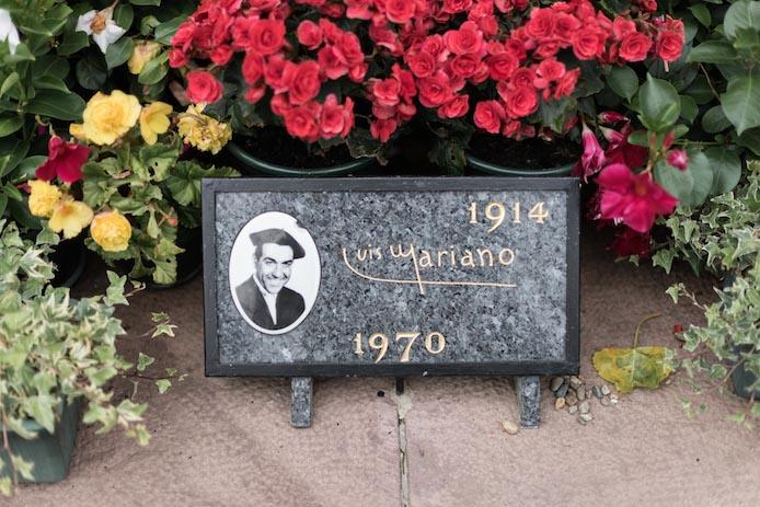 Tombe de Luis Mariano à Arcangues au Pays basque avec Bascovivo