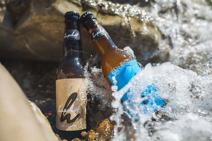 Bières blonde et blanche Hapchot Beer brassée à Hossegor dans la Kinda Box par Kinda Break.